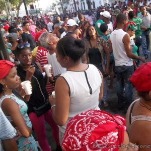 Festival San Miguel-The streets filled with people