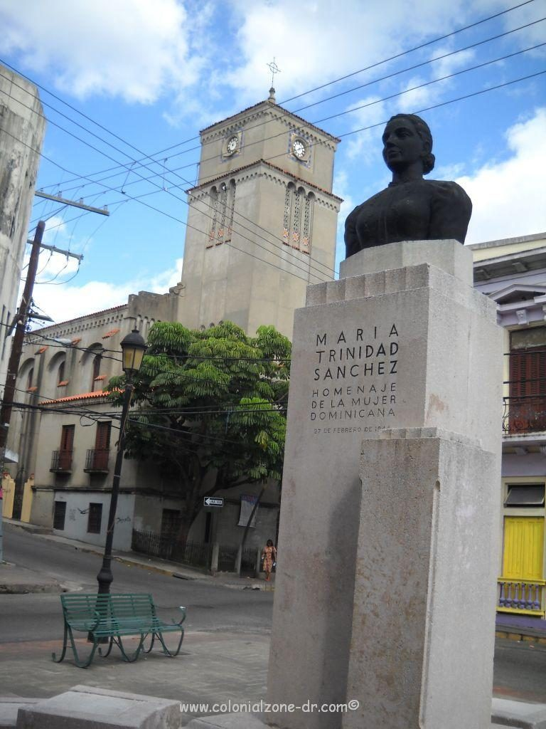 Bust of Maria Trinidad Sánchez in the park named after her.