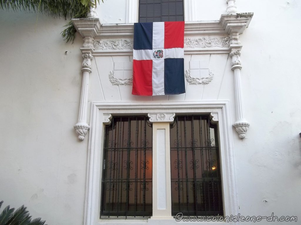 The Dominican Republic Flag on the Casa del Sacramento.