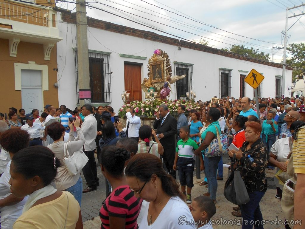 The procession through the streets of Colonial Zoe to honor the Patron Saint Altagracia.