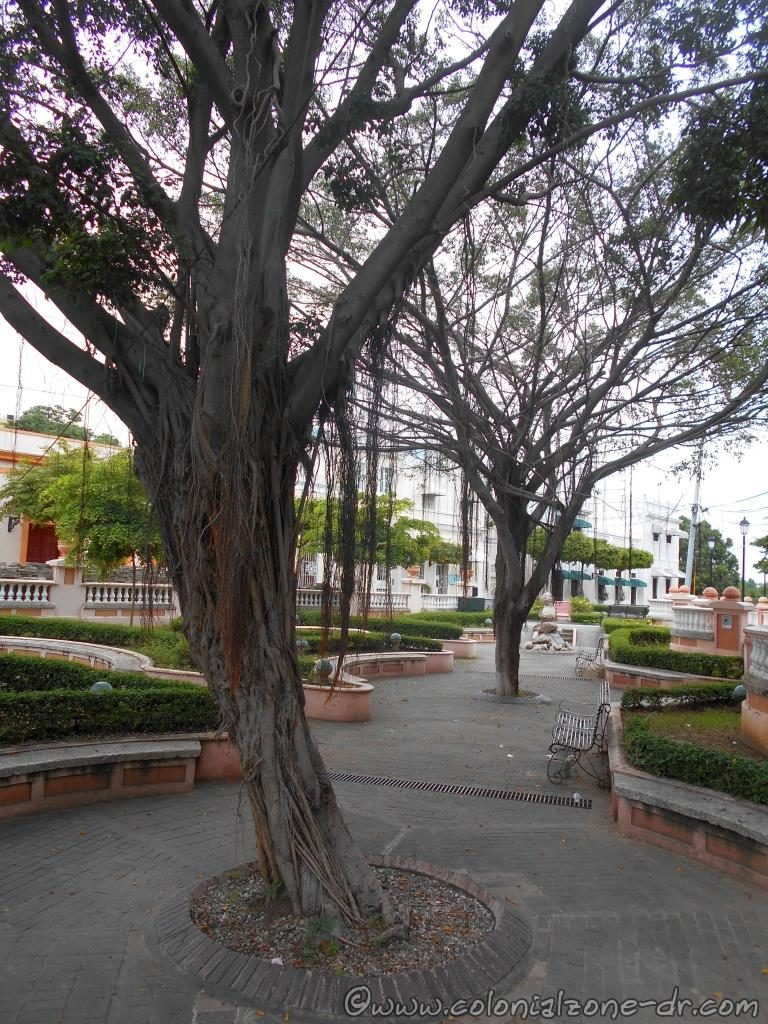 The relaxing parque Pellerano Castro also known as Parque Rosado