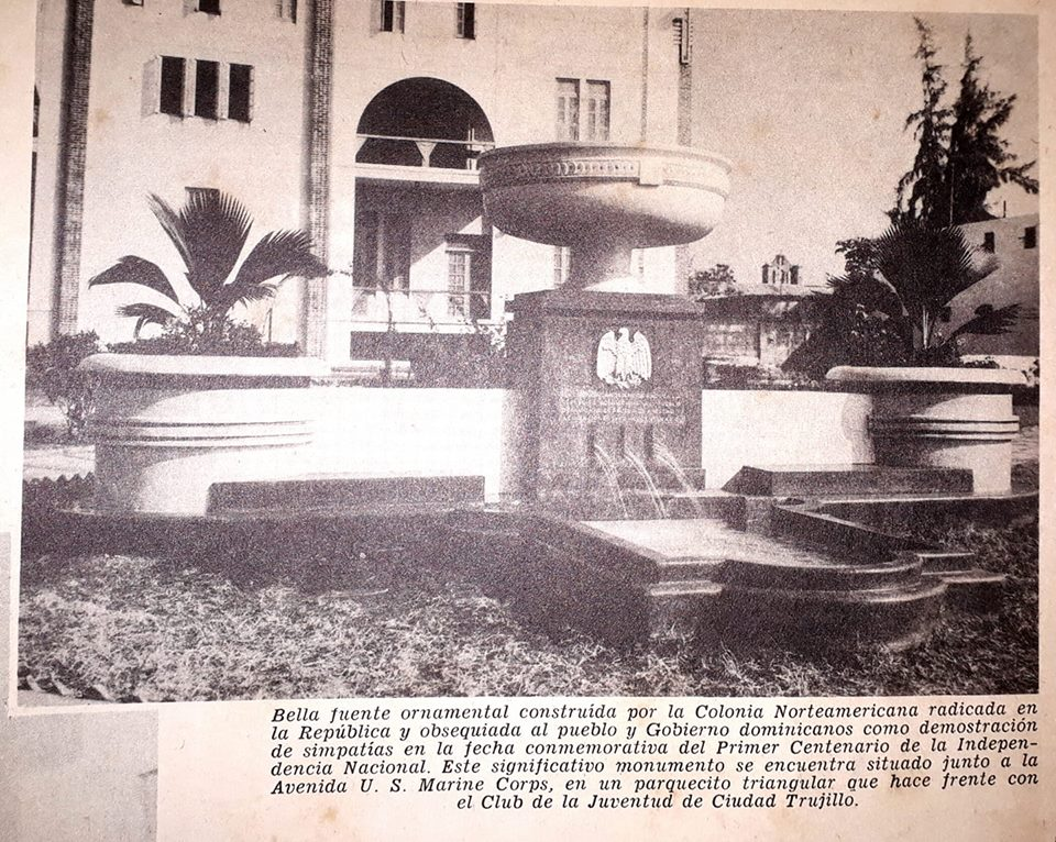 Ornamental Fountain Monument / Monumento De Fuente Ornamental was gifted to the Dominican Republic by the United States in on February 27, 1944