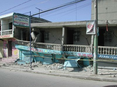 September 2003 Earthquake in Puerta Plata Dominican Republic store