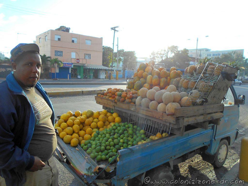 Street Vendor Fruit Truck selling their wares