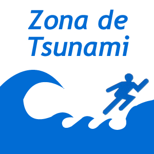 Zona de Tsunami - Tsunami Area sign