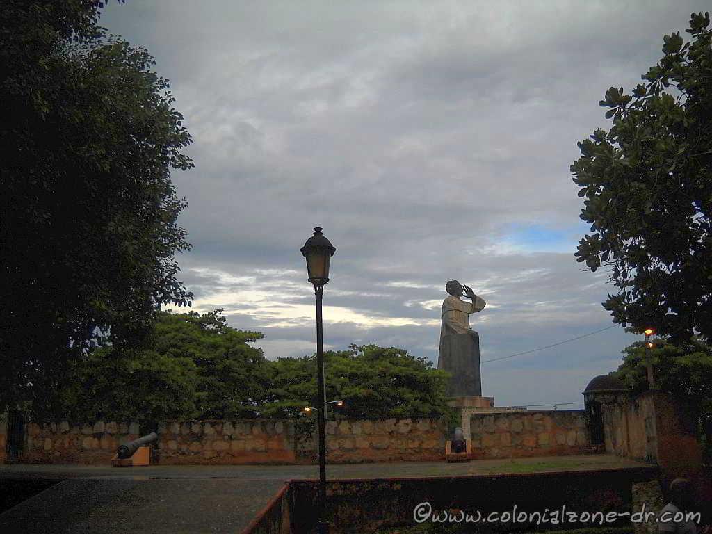 View from Fuerte San Jose  Monument dedicated to Frey Anton de Montecinos