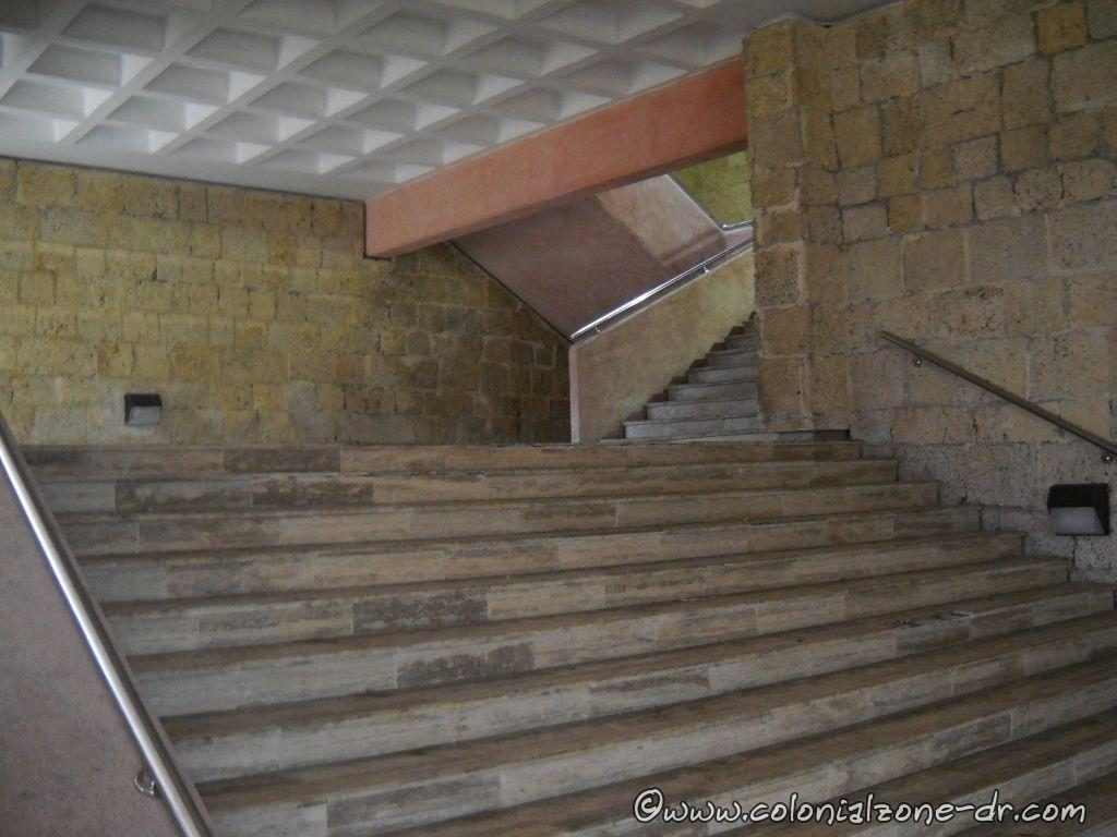 The old Stairs inside the Monument dedicated to Frey Anton de Montecinos before the renovation