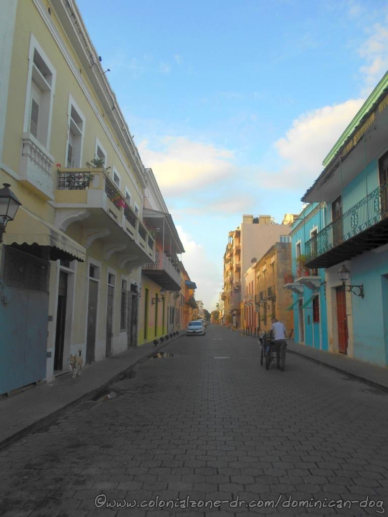 Calle Hostos near Parque Duarte.