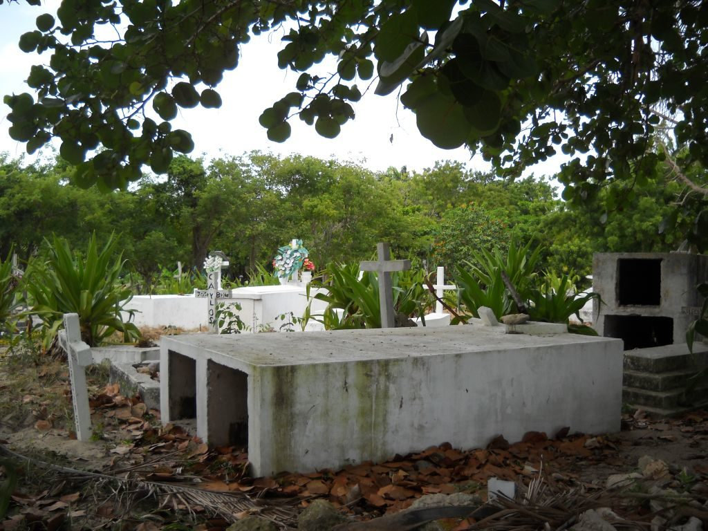 Wreaths on graves in Bayahibe.