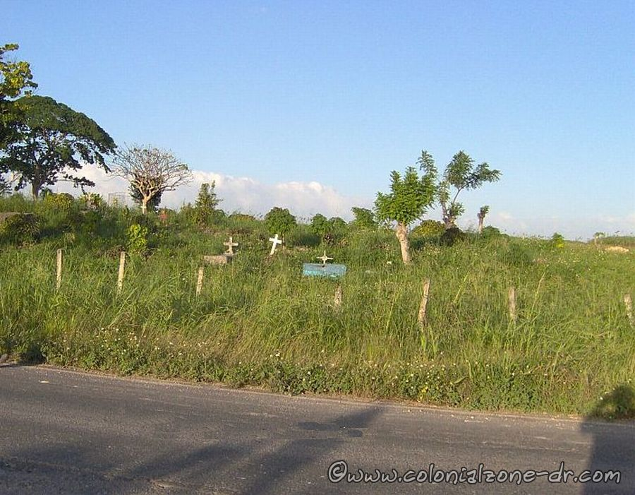 Small grave yard in the Batey of Dominican Republic