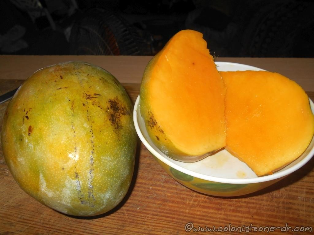 My favorite type of mango, Banilejo. Very large, sweet and juicy.
