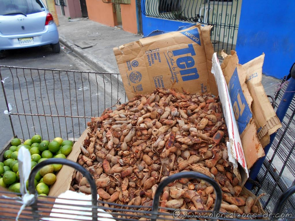 Tamarindo / Tamarind in the shell pod being sold on the streets of Dominican Republic
