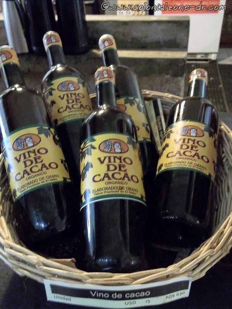 Vino de Cacao / Chocolate Wine is an organic chocolate wine produced in Dominican Republic.