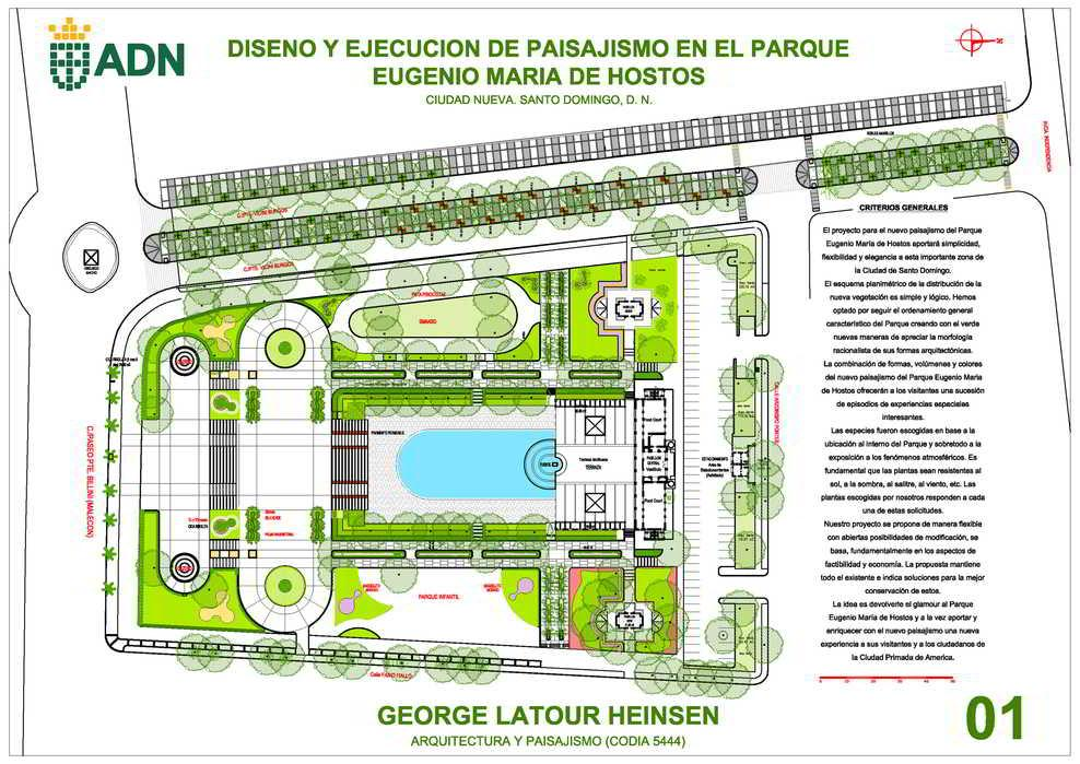Parque Eugenio María de Hostos new architect design