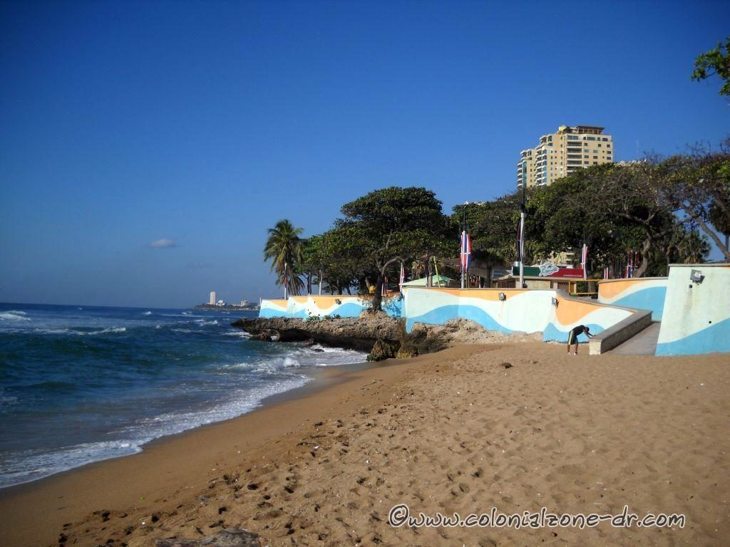 Playa Guibia and the exercise area, on the Caribbean Sea and the Malecon of Santo Domingo