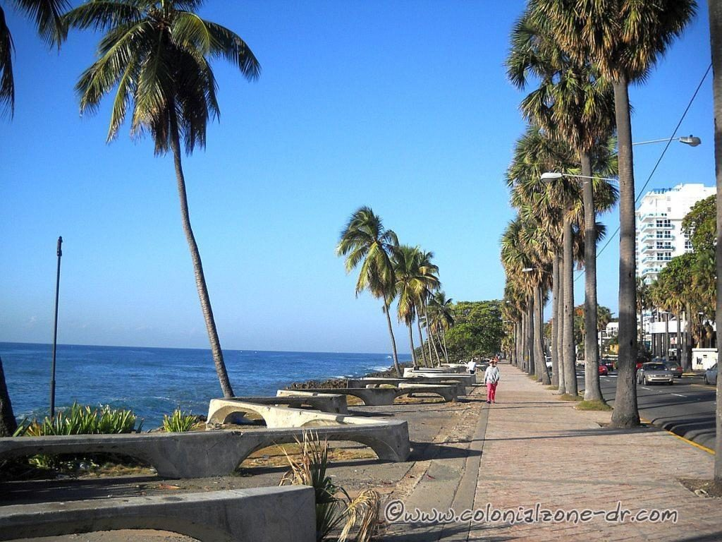 The Malecon of Santo Domingo along the Caribbean Sea