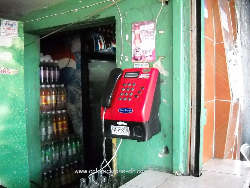 Funny looking payphone in Dominican Republic.