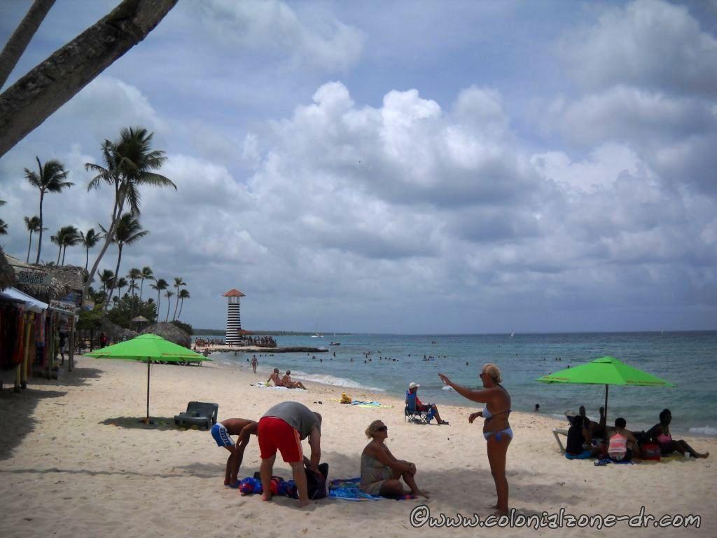 The beautiful beach at Playa Dominicus, Dominican Republic.