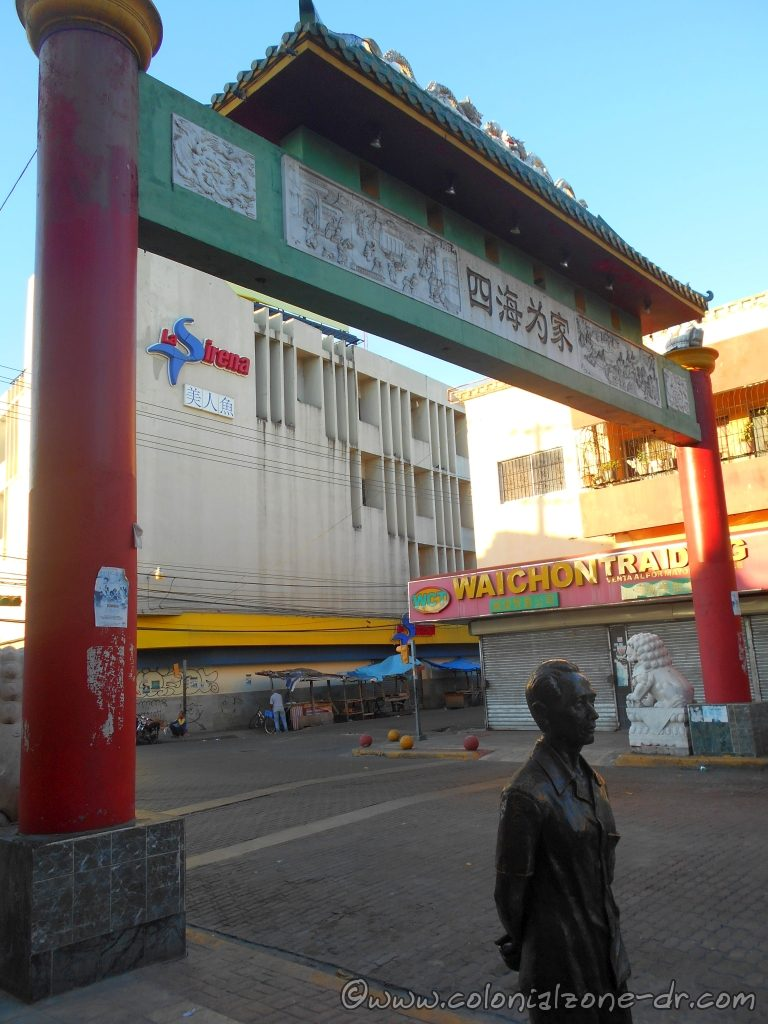 Entrance to Chinatown Barrio Chino Avenida Duarte is quiet early in the morning