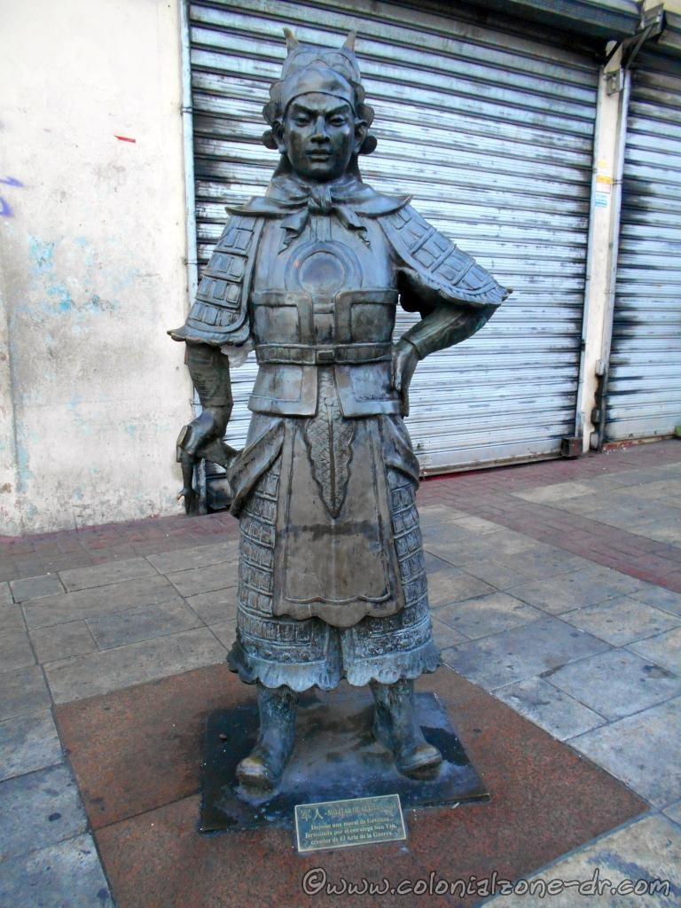 Statue in Barrio Chino, Santo Domingo. Militar De Alto Rango Sun Tzu