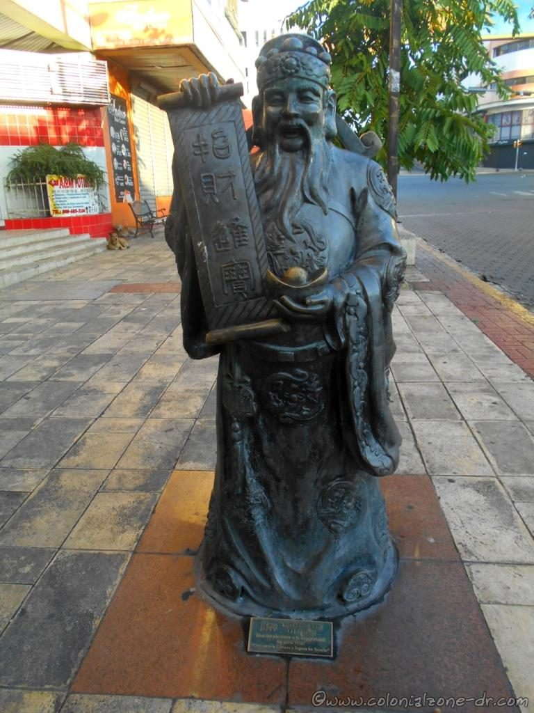 Statue in Barrio Chino, Santo Domingo of Tsai Shen Yeh or Lu Shig, The Chinese God of Wealth