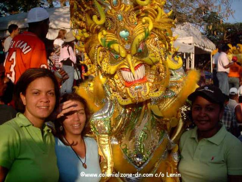 The bright colors and smiling faces of Carnival Dominicano.