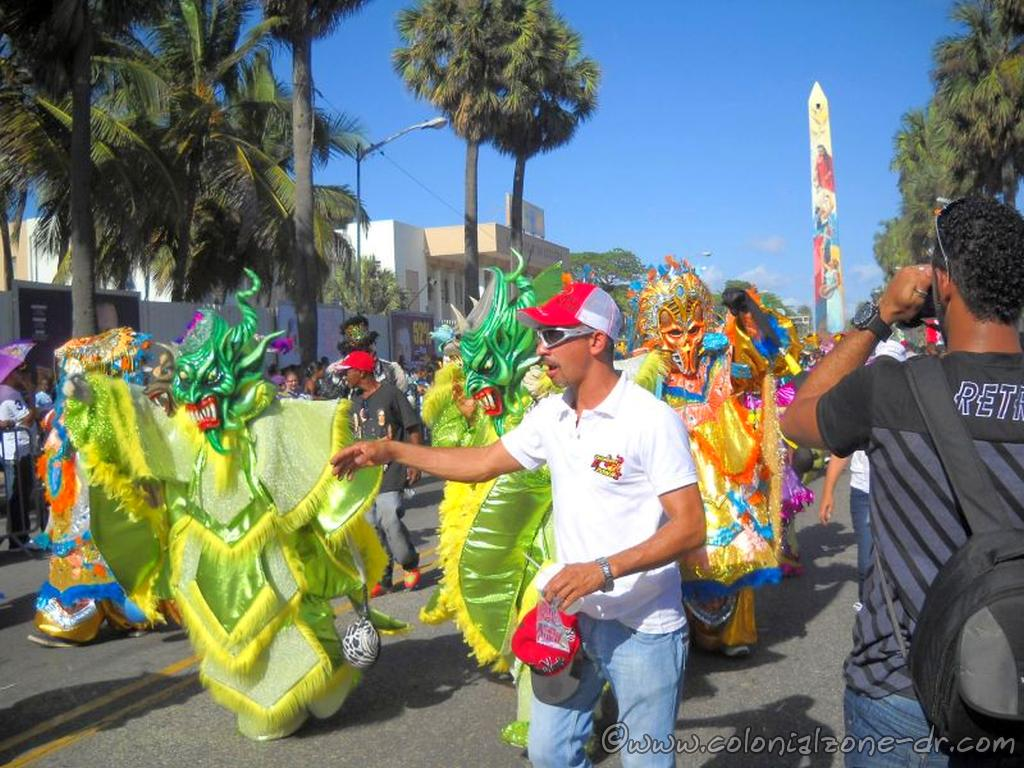 Diablo Cojuelos take over the Malecon during Dominican Carnival.