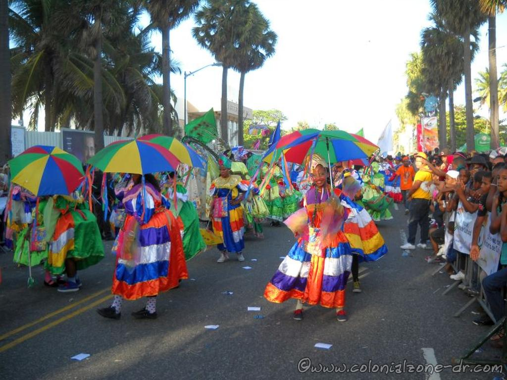 The final Carnival Parade down the Malecon in Santo Domingo