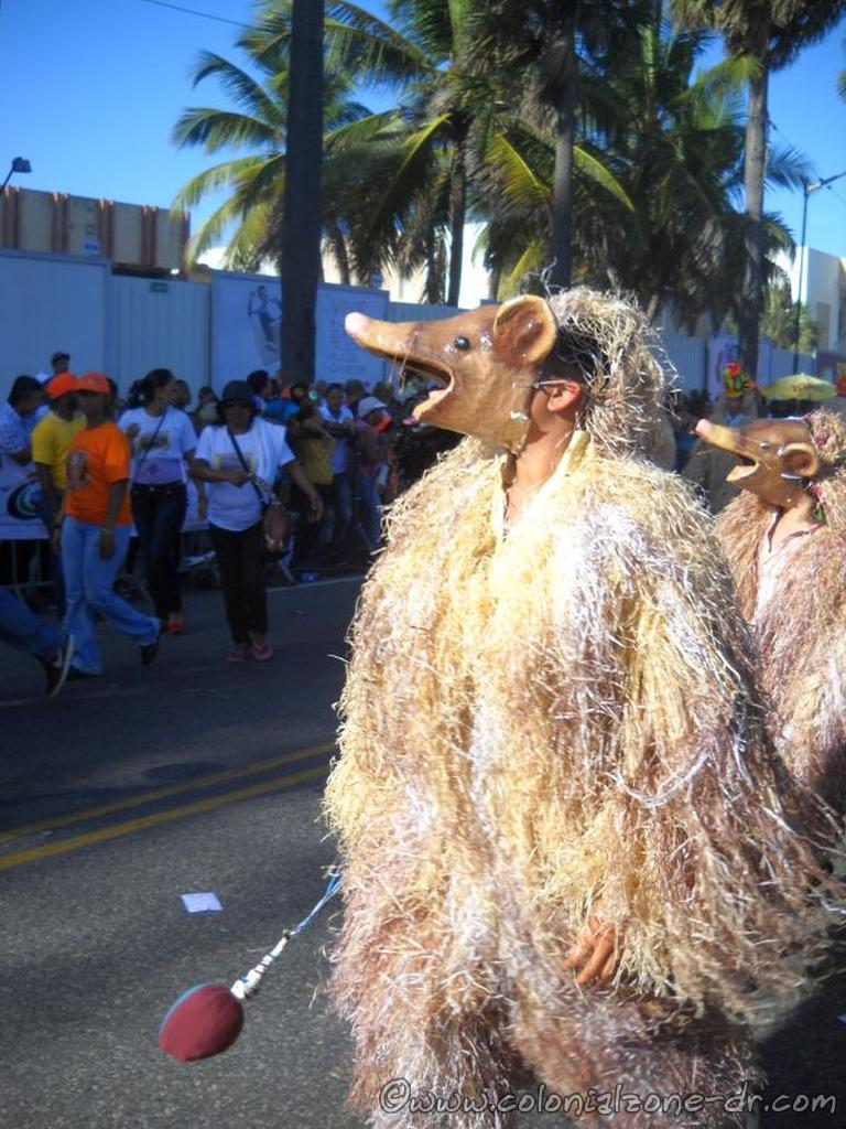 Shredded paper Papelus of Dominican Carnival