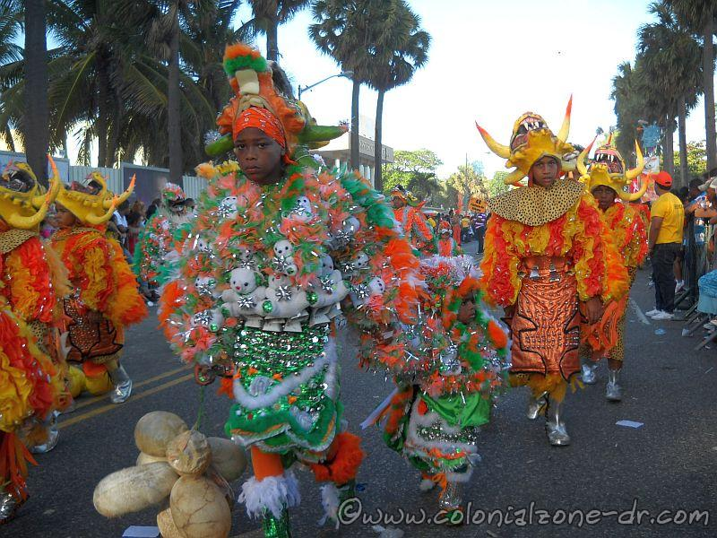 Young and old alike are part of the carnival groups in Dominican Republic.