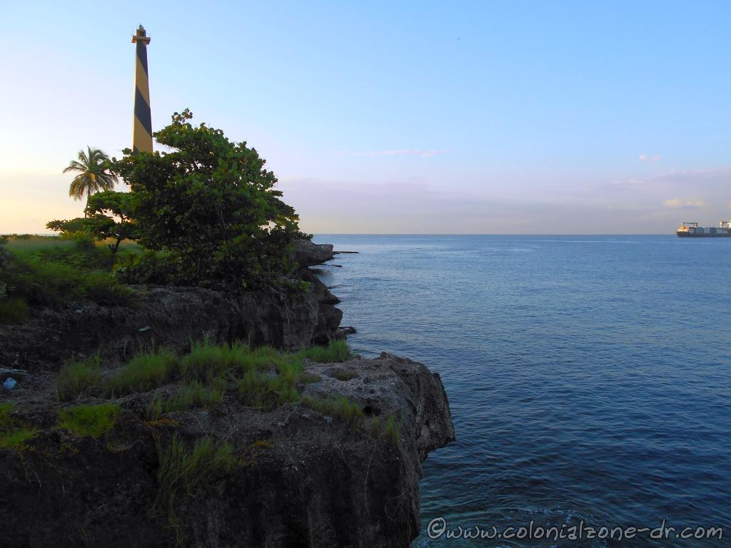 The Faro San Souci at Punta Torrecilla in Santo Domingo sits on the coral cliffs of the Caribbean Sea