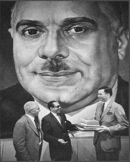 A large propaganda mural of El Jefe, Rafael Trujillo, inside of the offices of the Partido Dominicano.