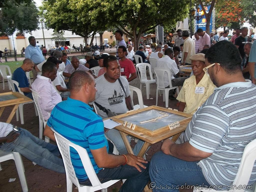 A Domino Tournament held in Parque Colón in the Colonial Zone