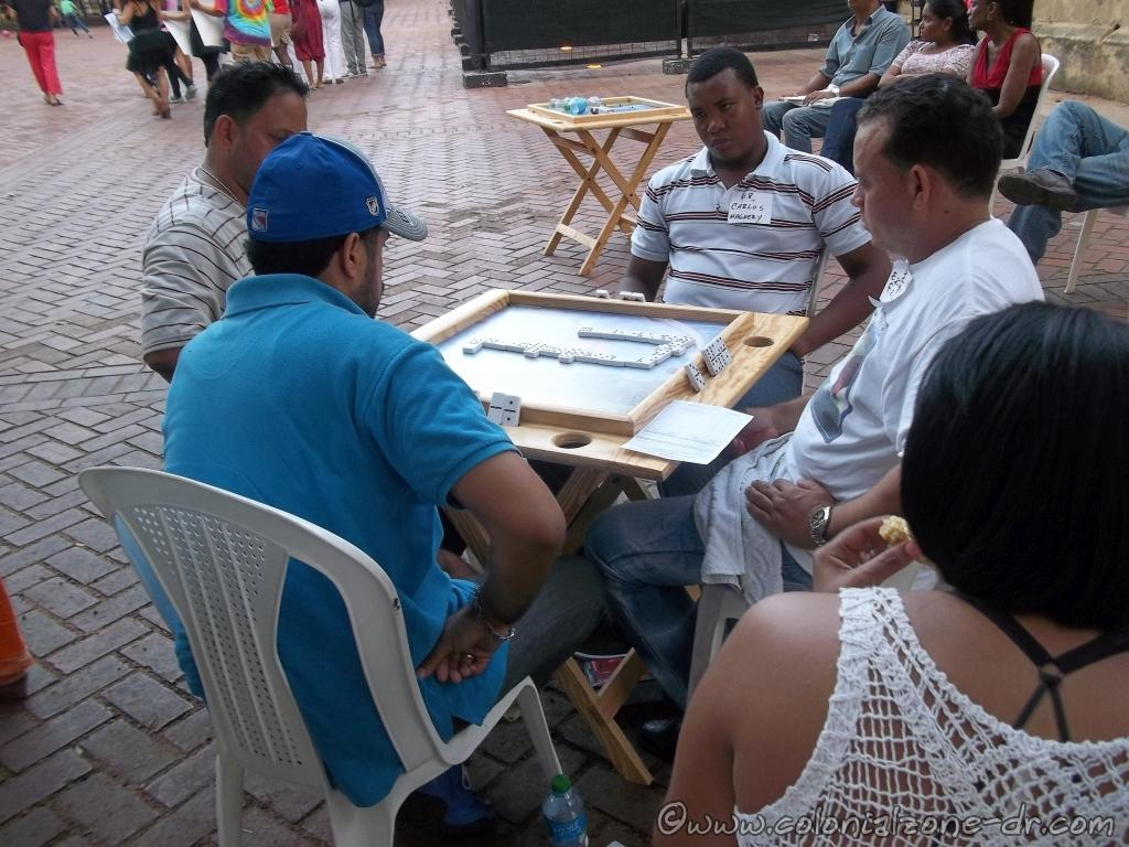 A Domino tournament held in Parque Colón in the Colonial Zone and some very serious players