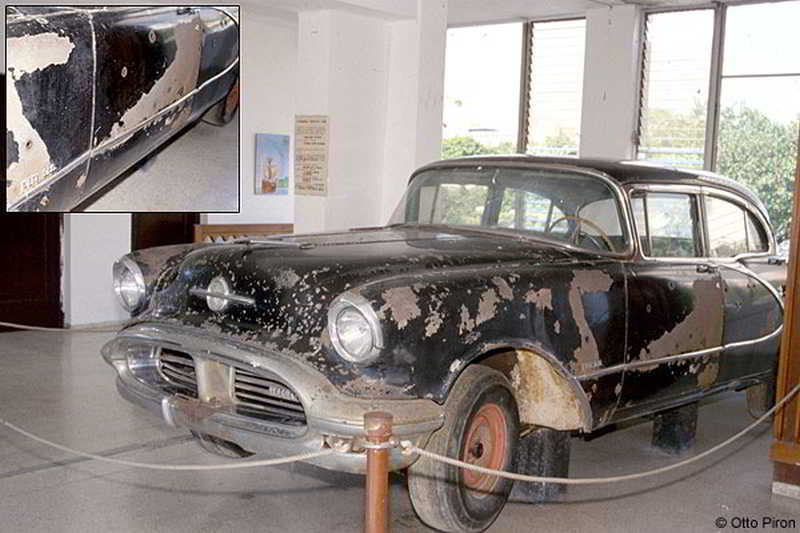 The Oldsmobile Ninety Eight that was used by Trujillo's assassins 1956