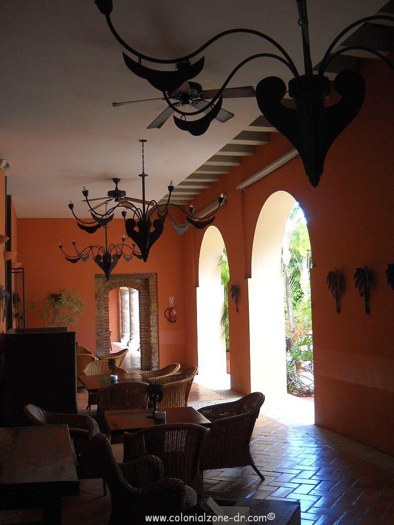 The interior of the renovated colonial home of Governor Nicolás de Ovando