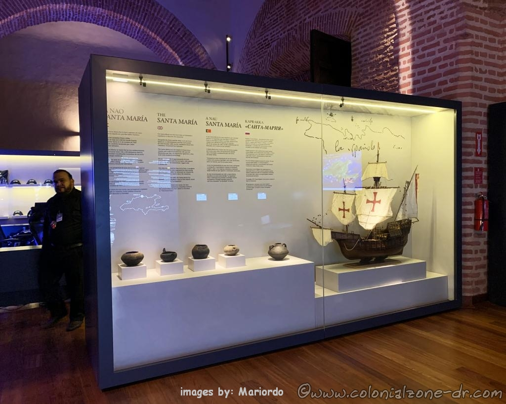 Display of the Santa Maria ship at Atarazanas Reales Museum, Ciudad Colonial Santo Domingo