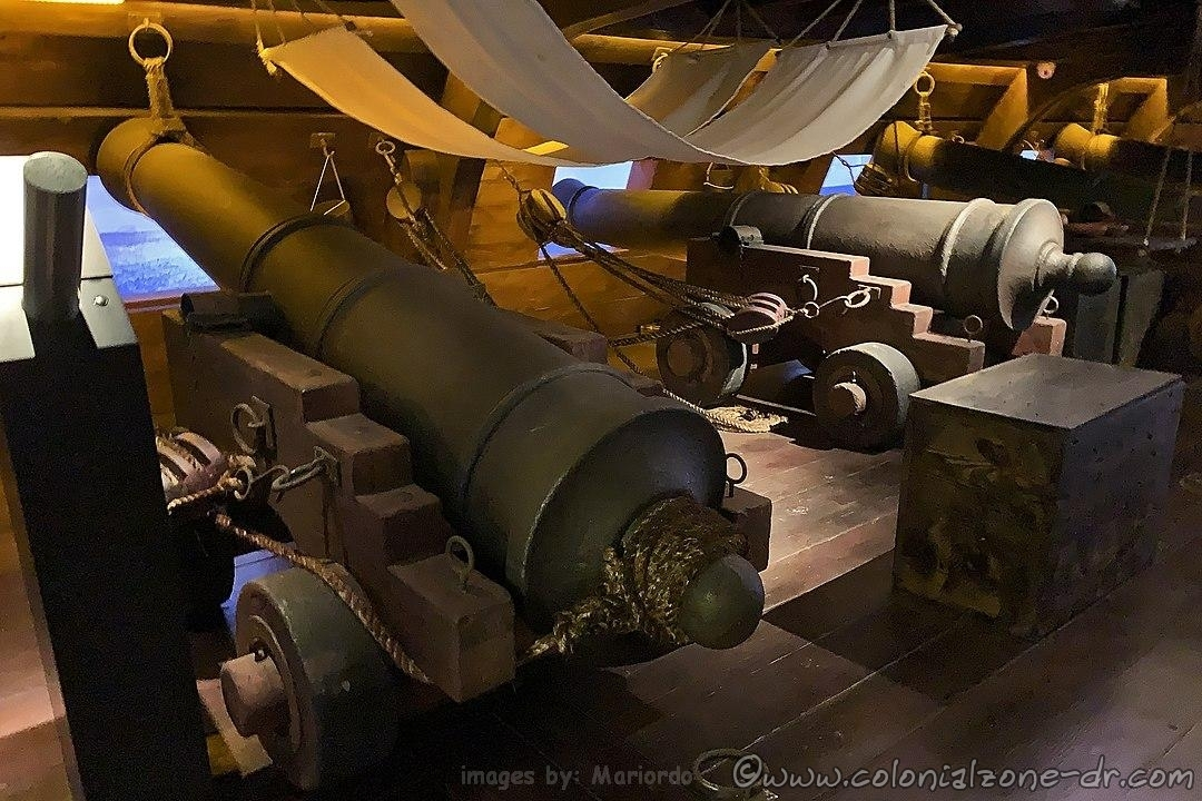 Full-scale replica of the first and second cannon batteries of the galleon Nuestra Señora de Guadalupe (18th century), Museo de las Atarazanas Reales