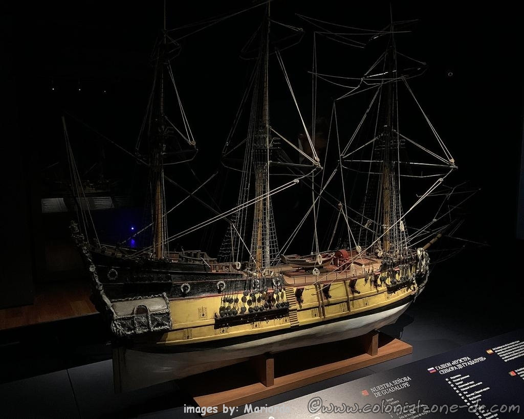 Scale model of the Spaniard ship Our Lady of Guadalupe, Museo de las Atarazanas Reales