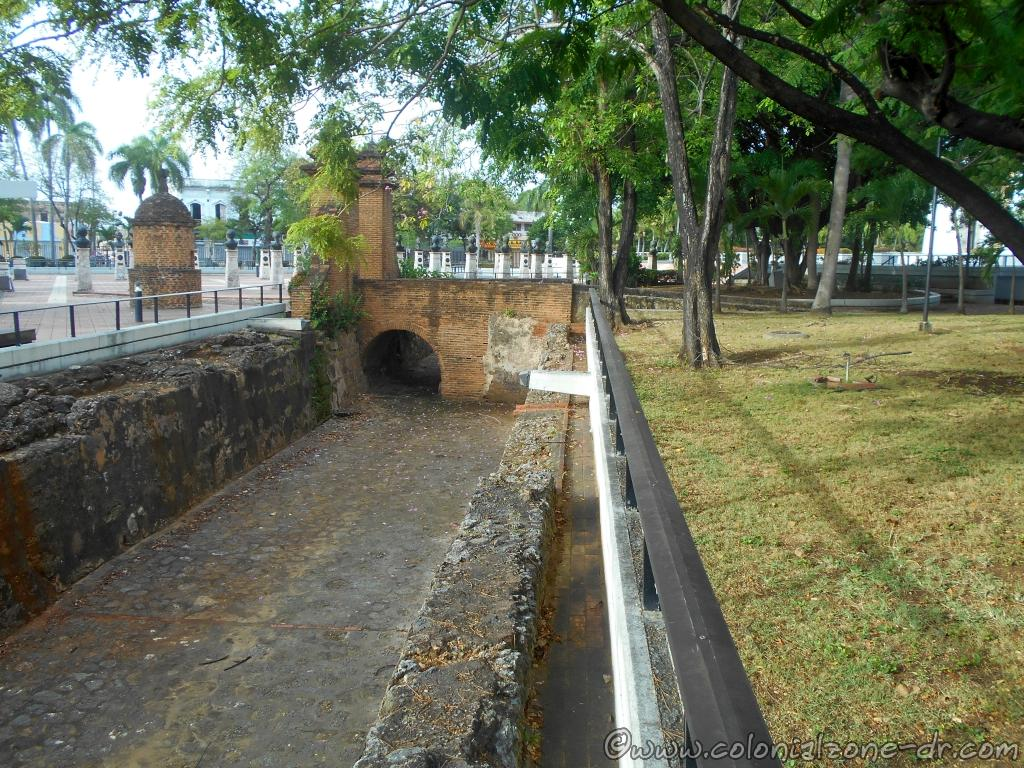 The original moats that surrounded the city walls