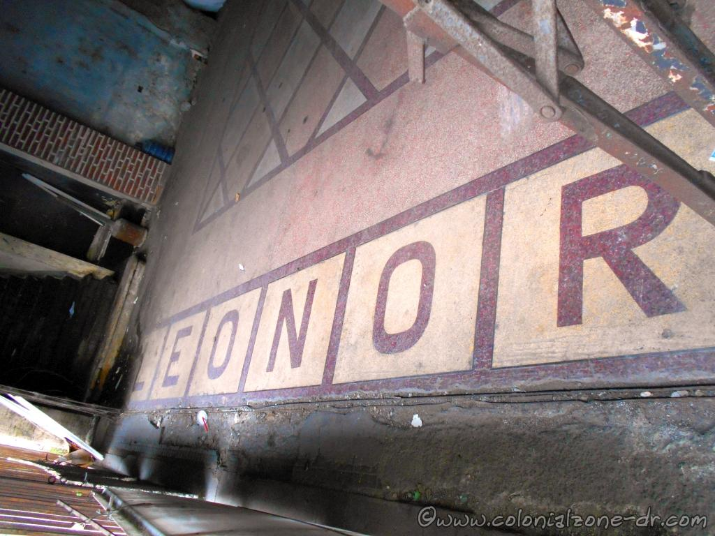 The entrance floor tiles are still visible, Leonor