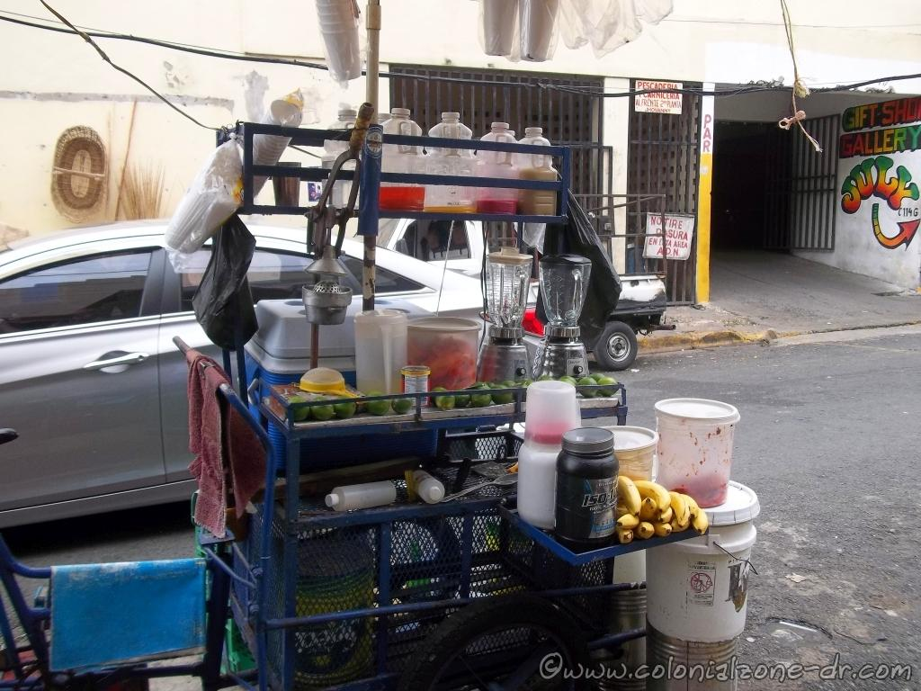 Fresh squeezed juices in the streets surrounding Mercado Modelo