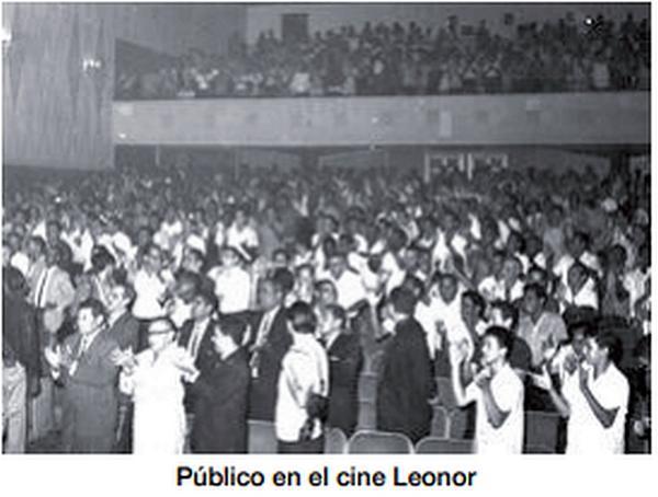 The interior of Cine Leone around 1965