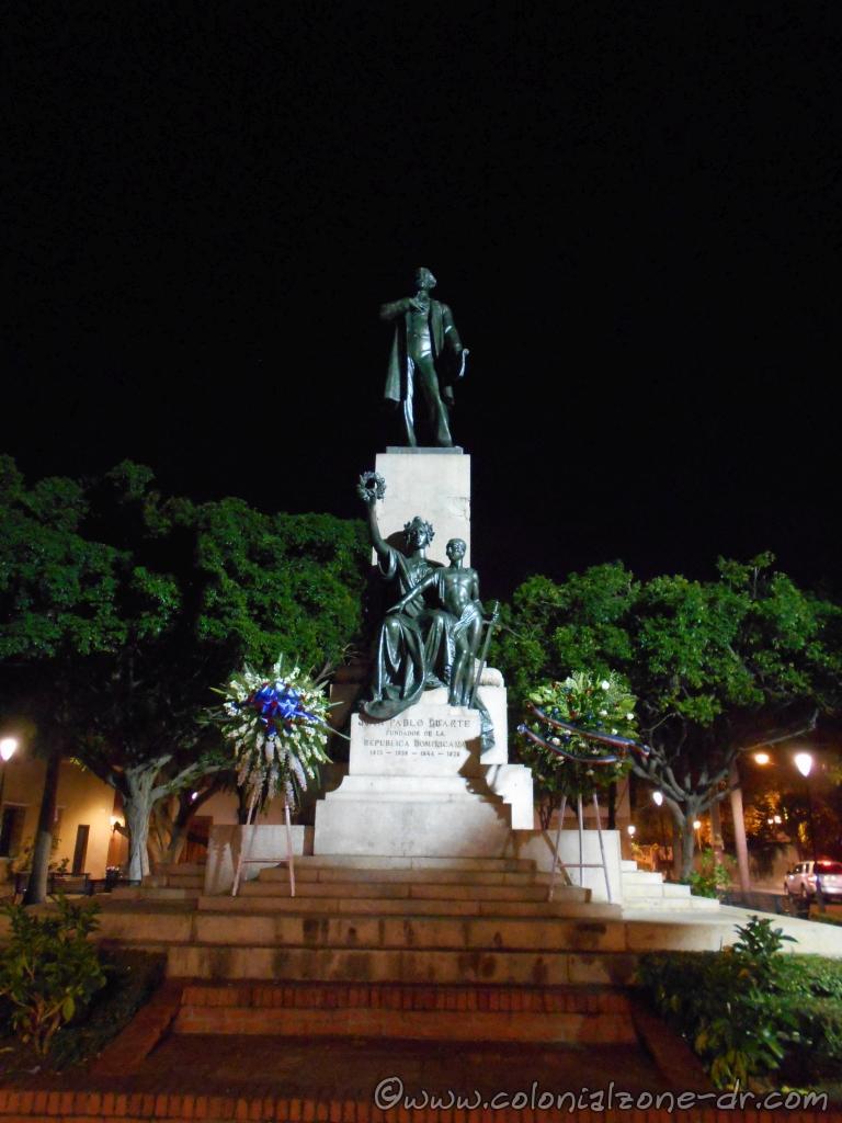 The statue of Juan Pablo Duarte in Parque Duarte